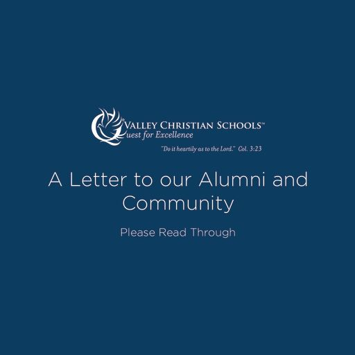 A Letter to our Alumni and Community